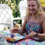 Enjoying Lunch at Ahh Ras Natango Botanical Garden Tour