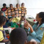 School Children with Ahh Ras Natango Gallery and Tour